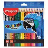 40835 Карандаши 24цв. Maped, трехгран. Color Peps Animals 832224